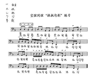 【度一琴馆古琴曲示范】练习曲 [右手散音:抹挑勾剔] 音视频教学图片